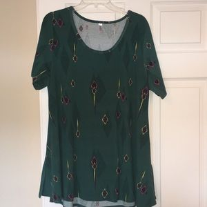 Green Aztec lularoe tunic t shirt size XL